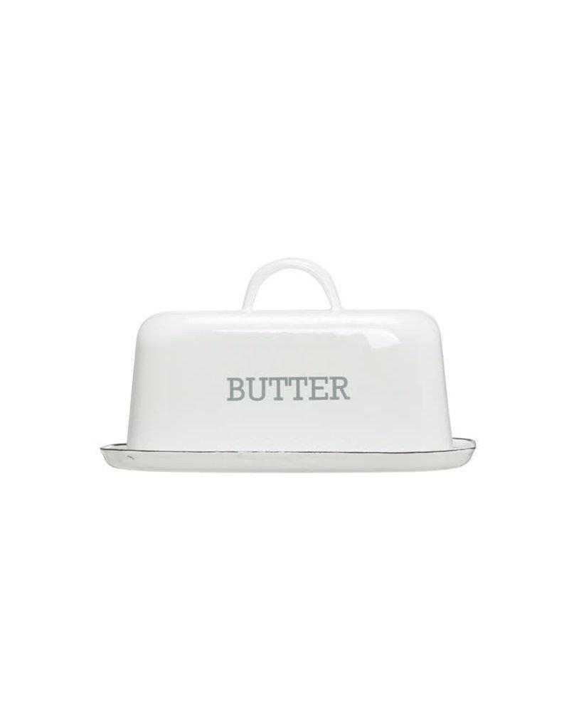 Enameled Butter Dish