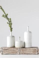 "Stoneware Vase reactive glaze 5""R x 12.5""H"