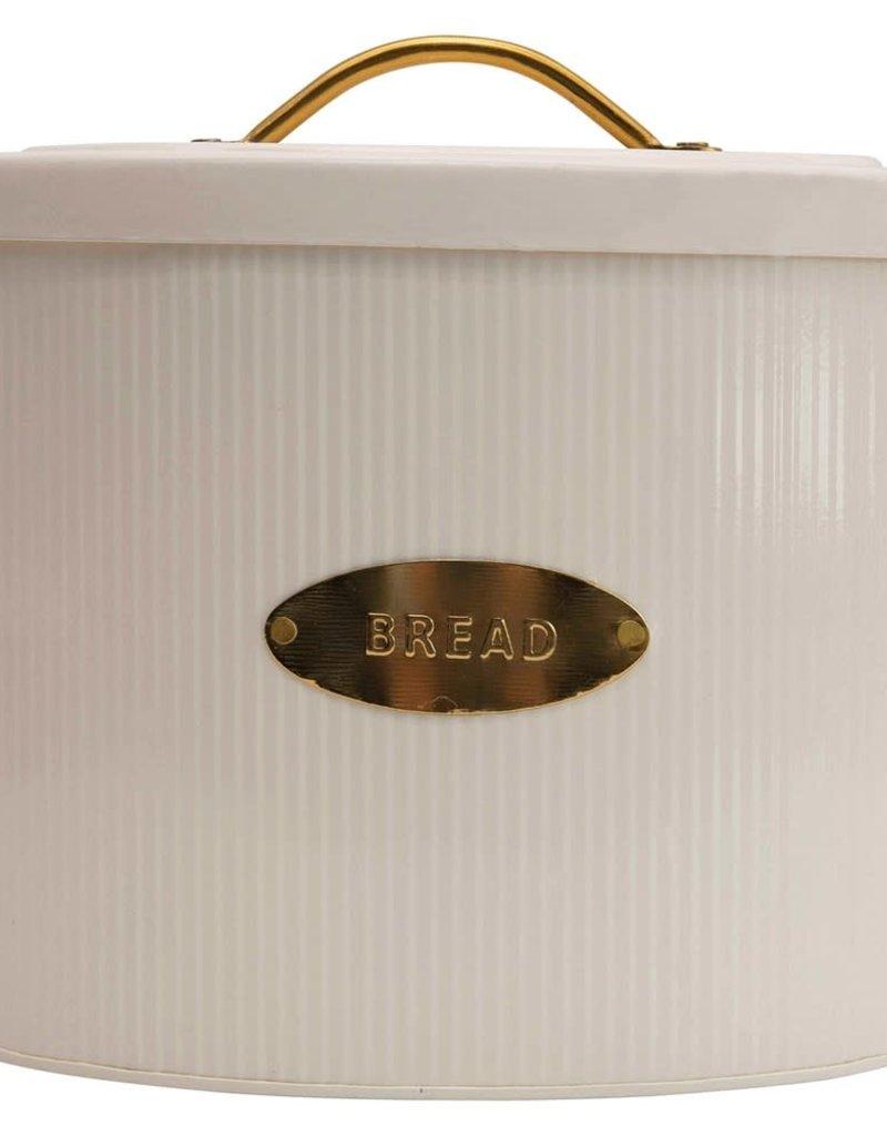 Bread Box w/ Lid, Cream Color