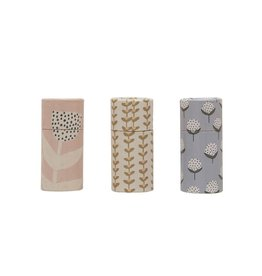 Tube Matchbox floral patterns