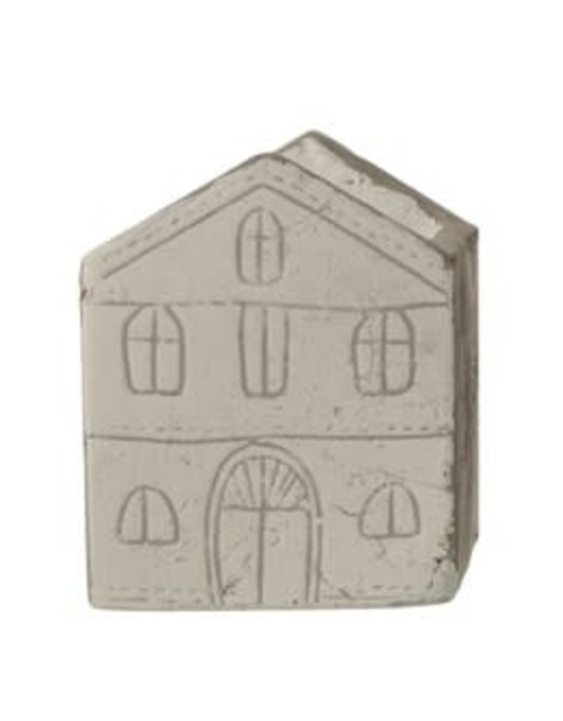 """4""""H Etched Cement House Container"""