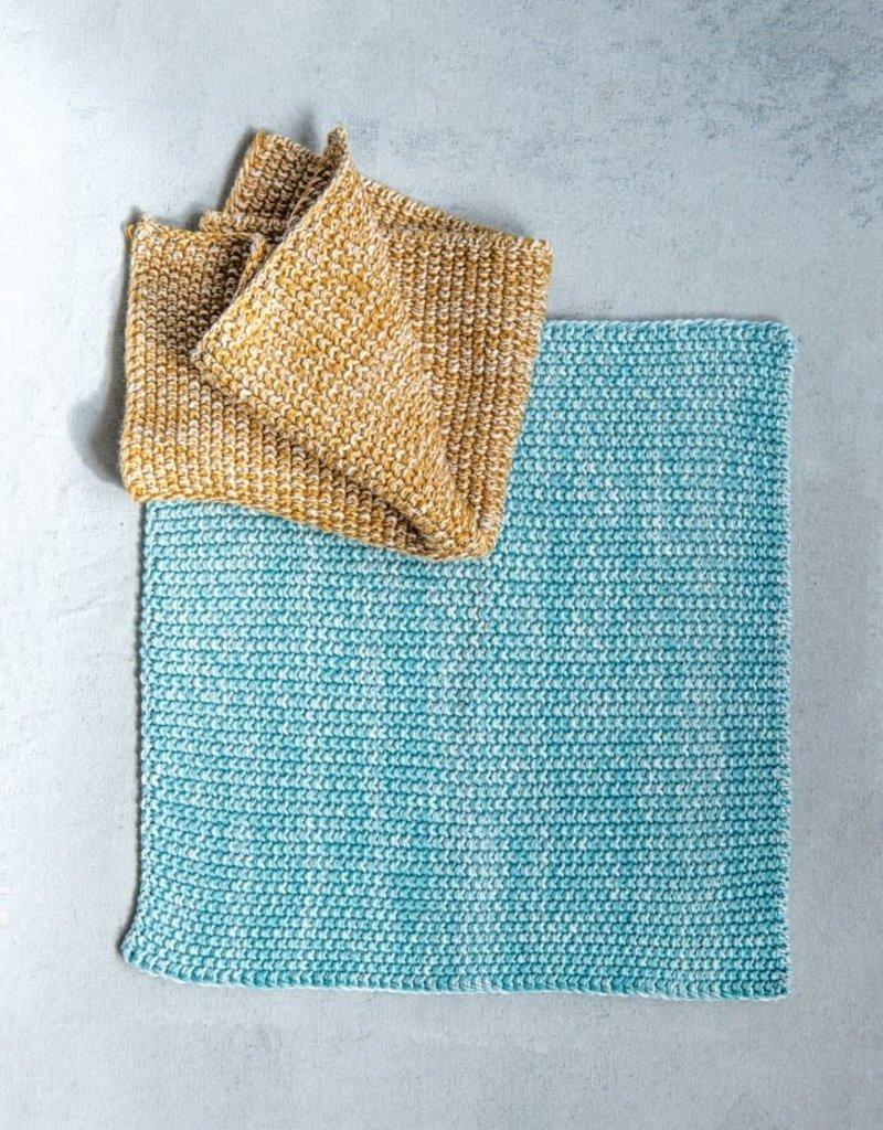 Set of 2 square Cotton Knit Dish Cloth