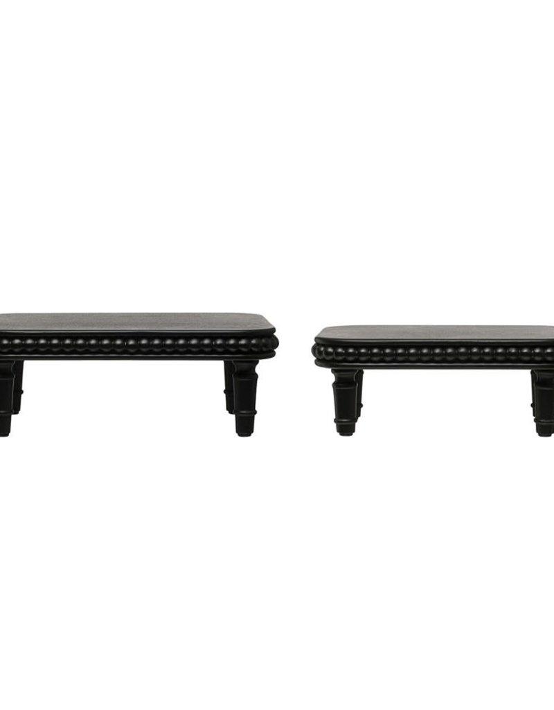 Decorative wood pedestals (Black)