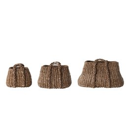 Woven Seagrass Baskets w/handles