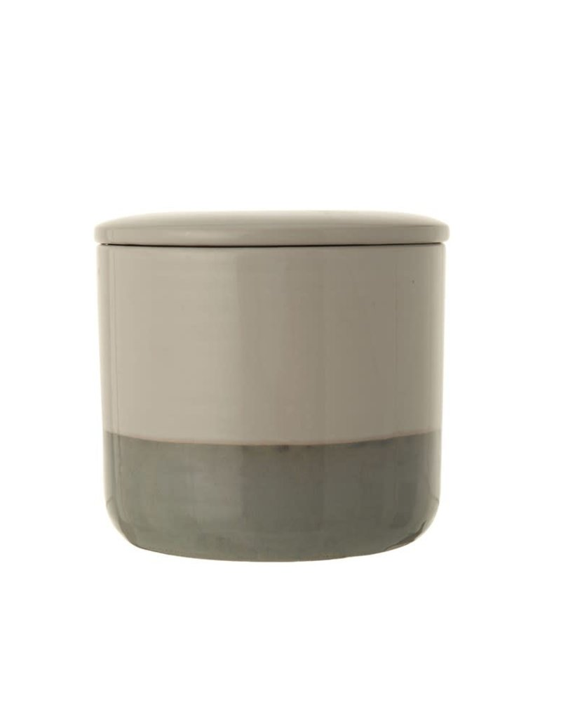 Round Stoneware Canister w/Lid