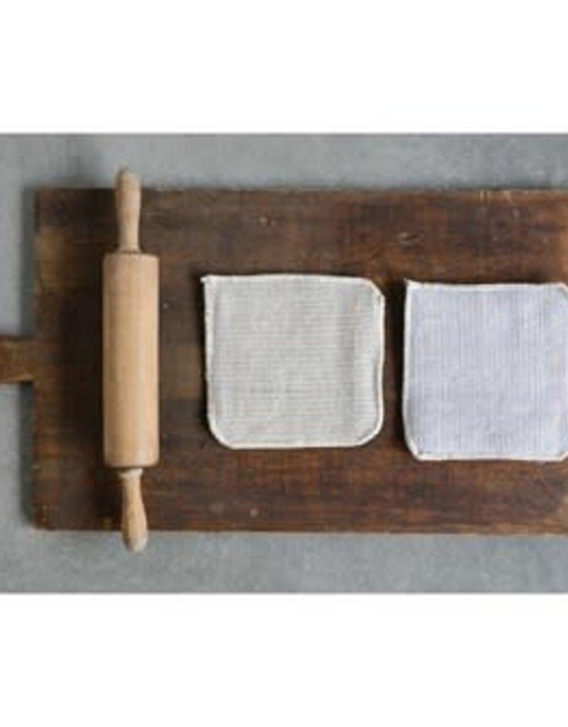"Cotton square pot holder 8""  (set of 2)"