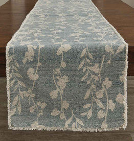 Callie frayed Tablerunner Mist 15x72