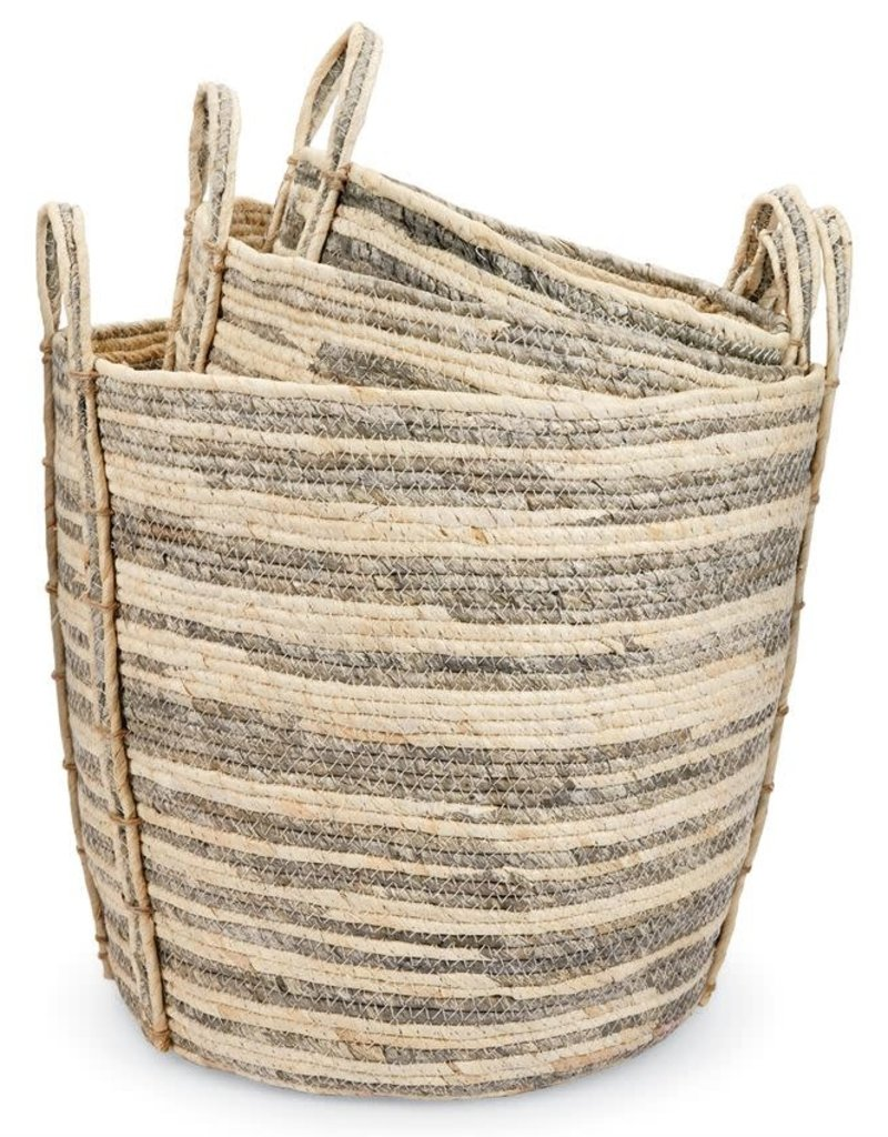 Gray Stripe Basket