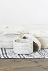 Rope Box, round Gray