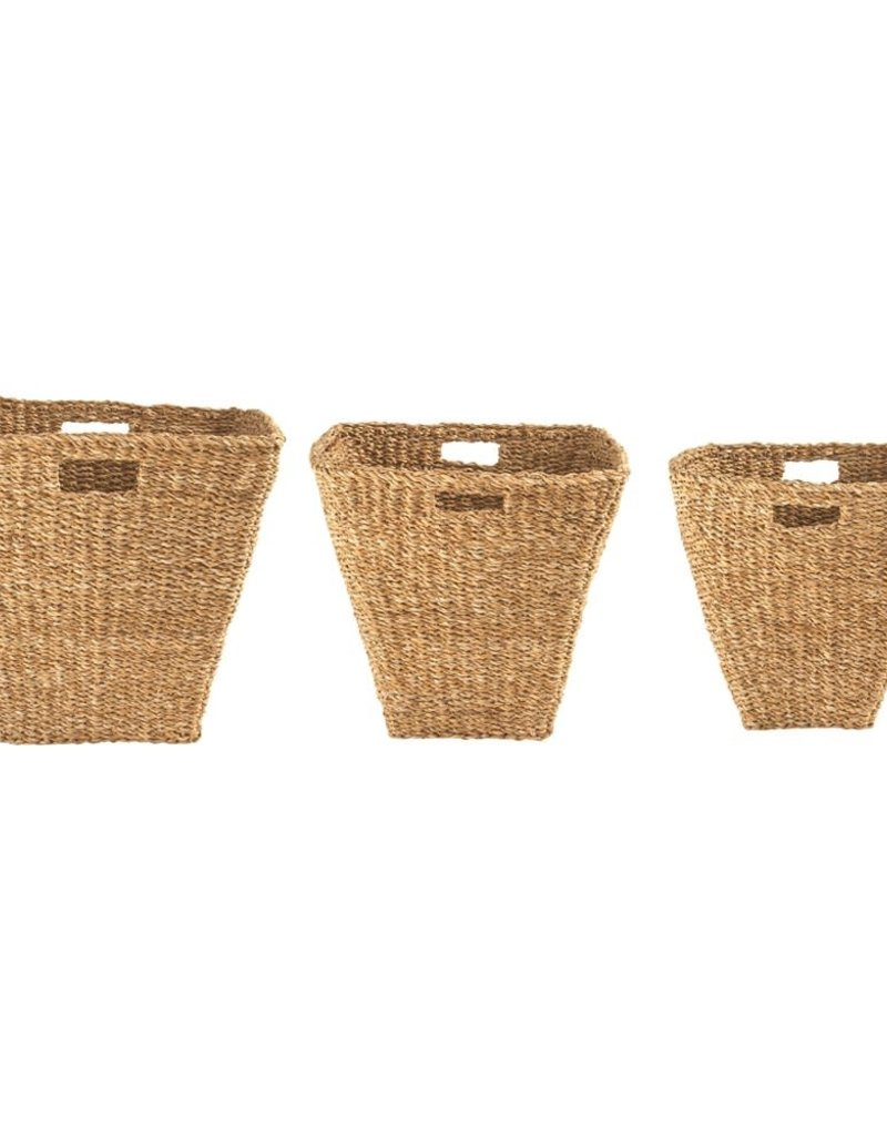 Conical Seagrass Baskets w/ handle