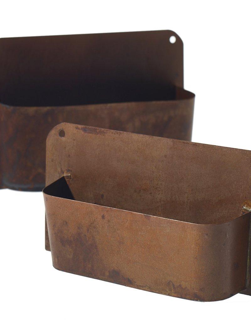 "Rust Wall Planter 12.25""x2.5"""