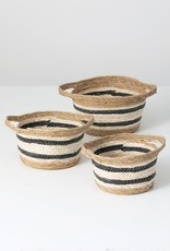 Seagrass baskets w/black stripe
