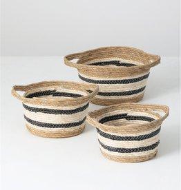 Seagrass baskets w/black stripe