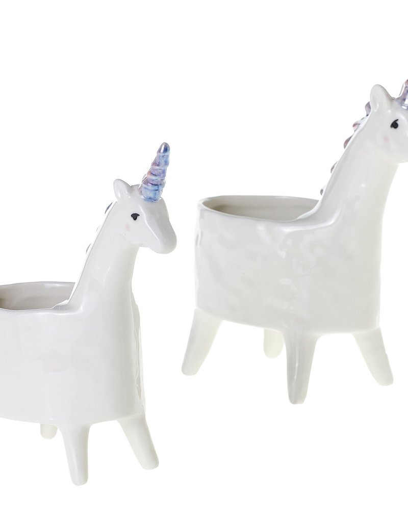 "Lolly Unicorn Planter, 5.75""x3"