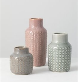 Patterned Vase, Set of 3