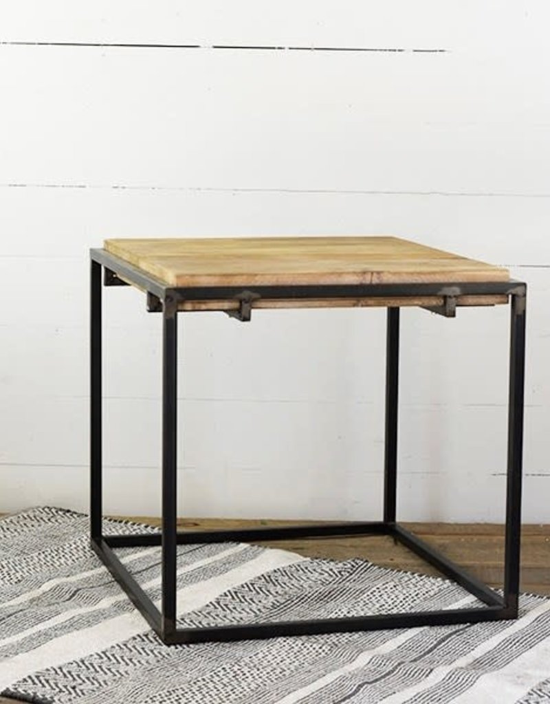 """24"""" Industrial Side Table"""