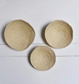Straw wall decor (set of 3)