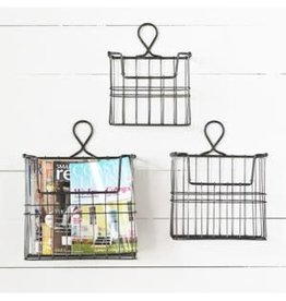 Industrial Wire Wall Baskets