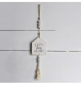 hanging sign with beads