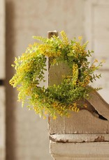 """6.5"""" Eucalyptus/Berrie Candle Ring (yellow)"""