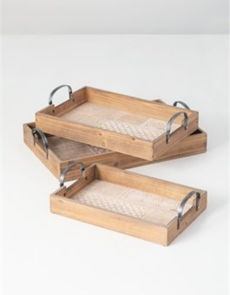 Patterned tray 3 sizes