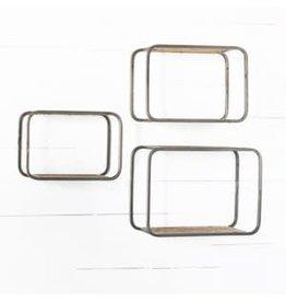 Modern box shelf, tin