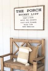 The porch bucket list