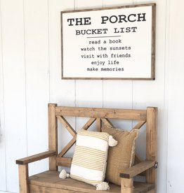The porch bucket list