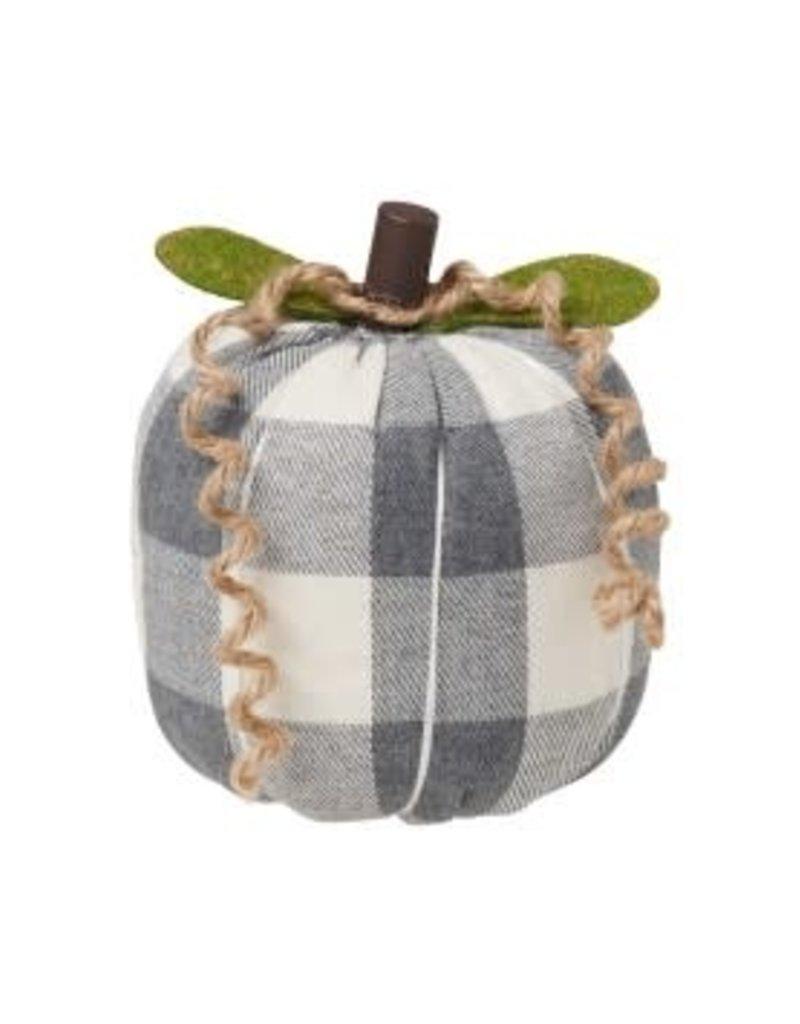 Grey/White Checked Pumpkin