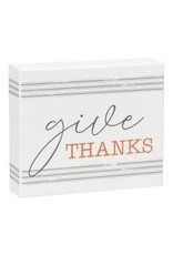 Give Thanks, box sign