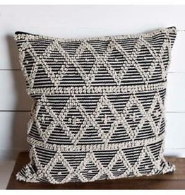 Black/Natural 20x20 Diamond Pillow