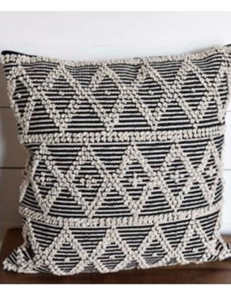 Black/Natural 20x20 Diamond Pillow