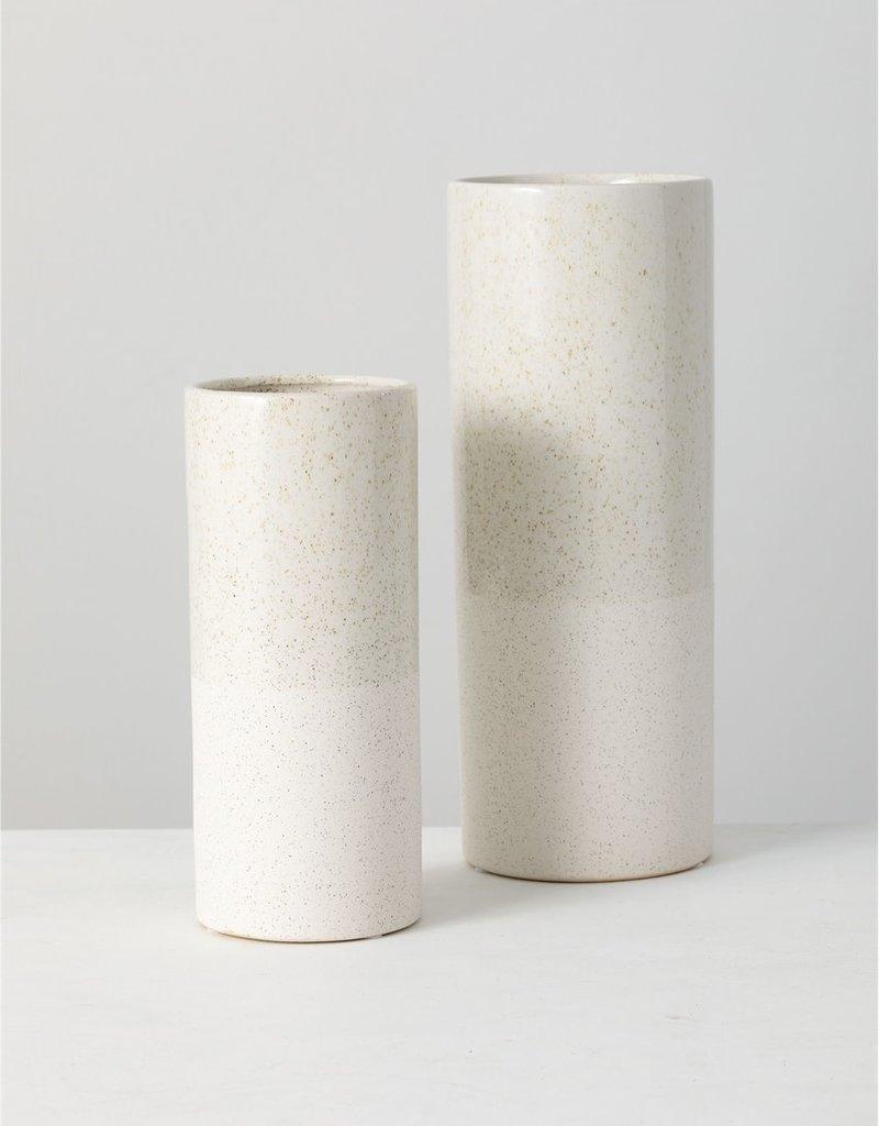 White Ceramic Speckled Vase
