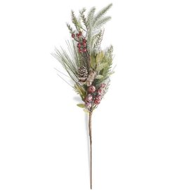 "28"" Needle Spray with Red Berries"