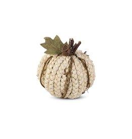 Cream Braided Cornhusk Pumpkin