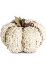 Cream Braided Cornhusk Pumpkin