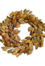 "21"" Fall Golden Tone Leaf Wreath"