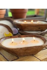 Carved bowl scented candle (Earth Garden