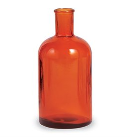 Orange Bottleneck Fall Vase
