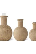 Pine Wood Budvase (round)