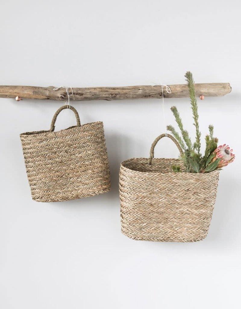 Seagrass Wall Baskets w/handles