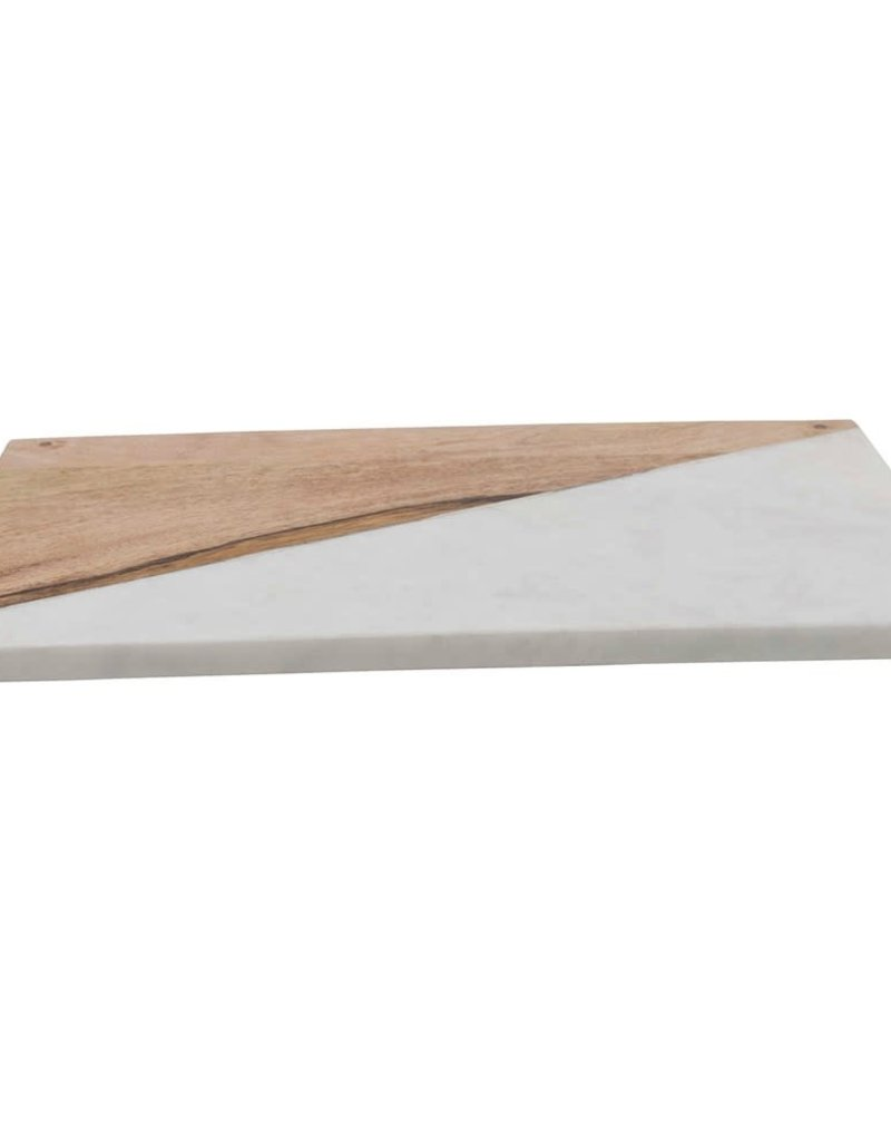 Mango wood & marble board w/feet