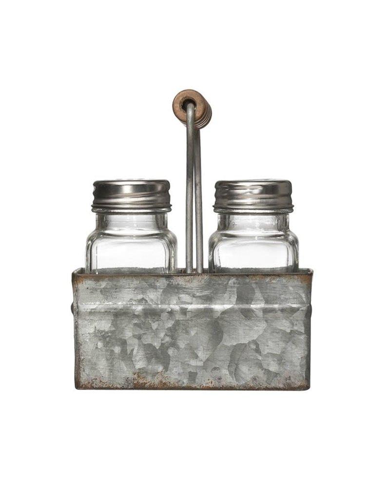 Glass & Metal Salt & Pepper Shakers