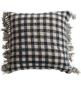 Cotton Plaid Pillow