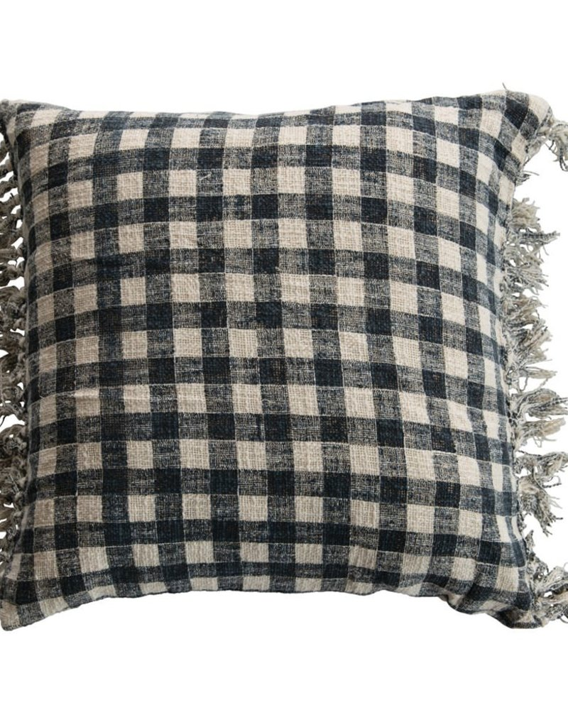 Cotton Plaid Pillow