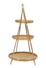 Hand Woven Bamboo Tier Tray
