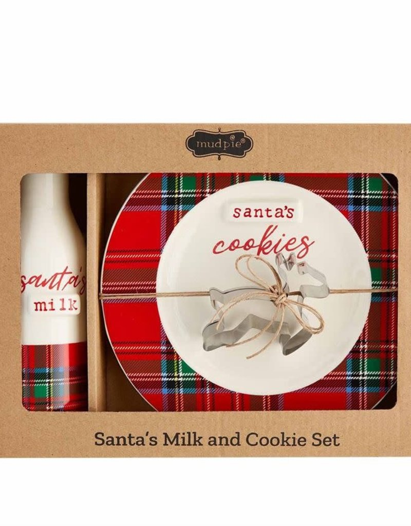 Tartan Milk and Cookies Gift set