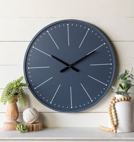 Metal/Wood Clock (Navy)