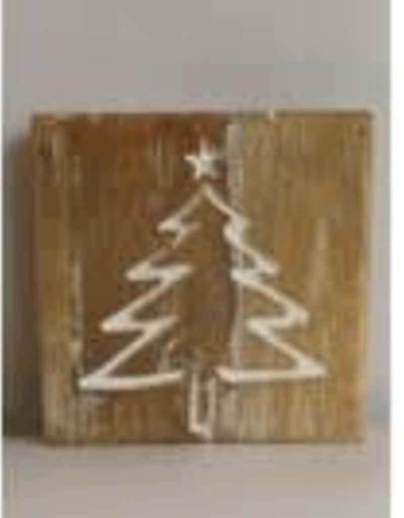 WD Double Sided Sign, tree/snowflake