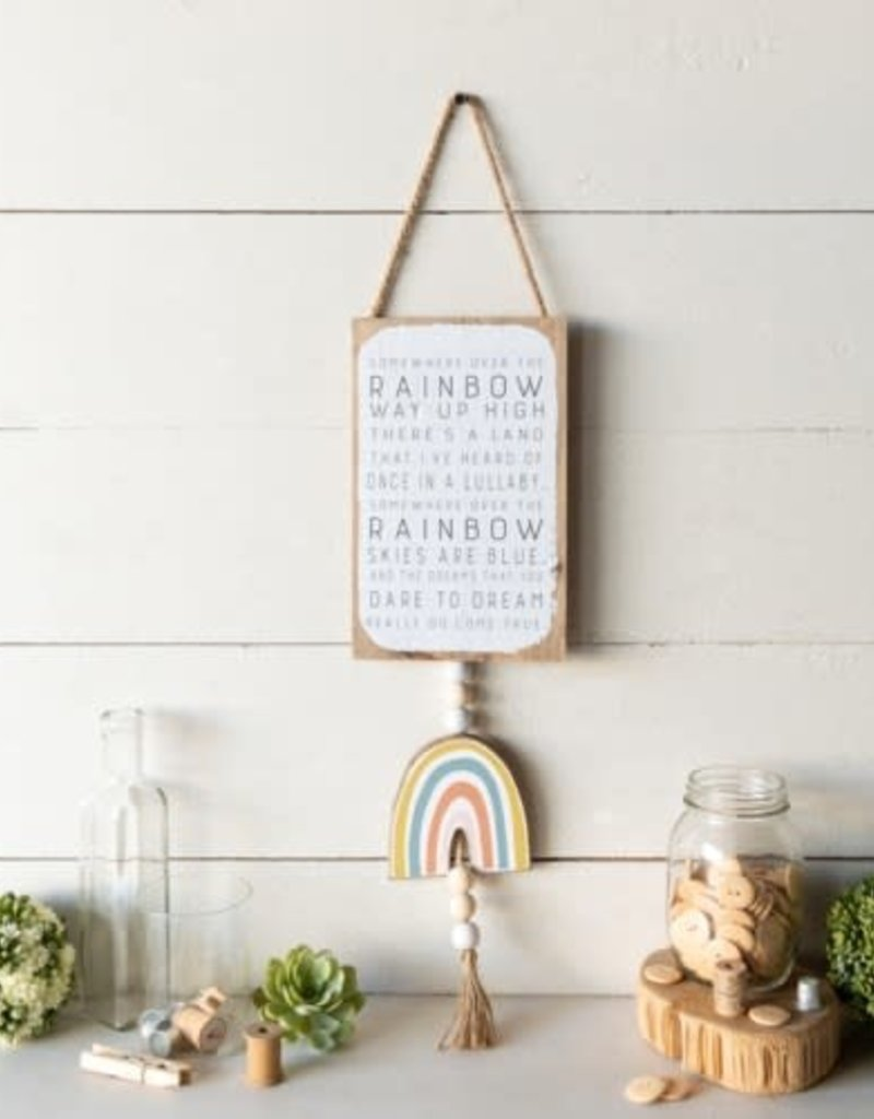 """Wd sign, """"over the rainbow"""""""